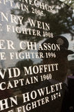 9/11 Fire Fighter Memorial Stock Photo