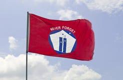 9 11 flaga Zdjęcie Stock