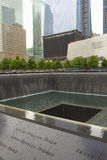 9/11 mémorial à point zéro (NYC, les Etats-Unis) Photo stock