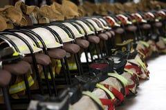 9/11 mémorial de chasseur d'incendie Photos libres de droits
