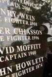 9/11 mémorial de chasseur d'incendie Photo stock