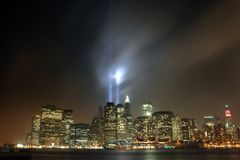 9/11 Manhattan, 2007 Stockbilder