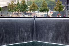 9-11 Memorial Visitors Royalty Free Stock Images