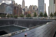 9-11 monumento Imágenes de archivo libres de regalías