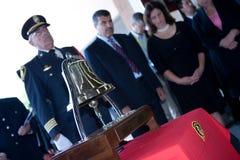 9/11 monumento del combatiente de fuego Imagenes de archivo
