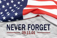 Free 9/11 Patriot Day, September 11. `Never Forget` Stock Photos - 163426543