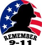 9-11 pompiere del vigile del fuoco Fotografia Stock Libera da Diritti