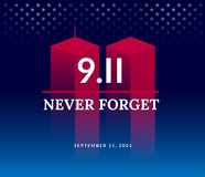 Free 9/11 USA Never Forget September 11, 2001. Vector Conceptual Illu Royalty Free Stock Photography - 125039857
