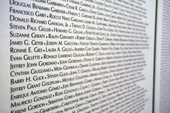 9/11 victims list Royalty Free Stock Images
