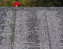 9/11 victims list. List of Victims from Sept. 11, 2001 Stock Images