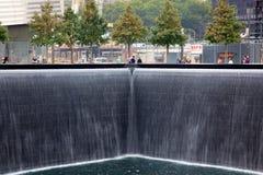 9-11 visitantes del monumento Imágenes de archivo libres de regalías