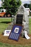 9 11 Zeremonie-Denkmal und Löschfahrzeug Stockbilder