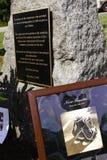 9 11 Zeremonie-Denkmal und Plakat Lizenzfreies Stockbild