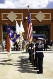 9 11 Zeremonie-Ehrenabdeckung mit Farben Lizenzfreies Stockfoto