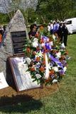 9 11 Zeremoniedenkmal und Wreath Stockbild