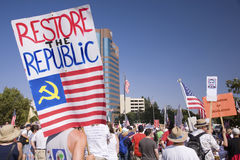 9-12 Rally and Tea Party, Royalty Free Stock Photo