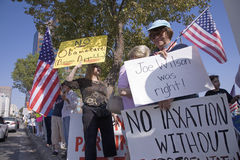 9-12 Rally and Tea Party Stock Image