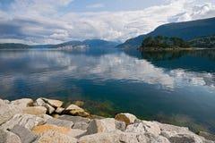 9 2008 fiords Νορβηγία Στοκ Φωτογραφίες