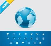 сеть универсалии 9 икон глифов Стоковая Фотография