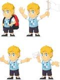 Талисман 9 белокурого богатого мальчика ориентированный на заказчика Стоковые Фотографии RF