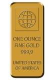 9 999 bar fin guld Arkivbilder
