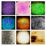9 abstract grunge wall. Set of 9 Grunge wall use for background Royalty Free Stock Images
