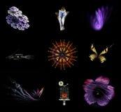 9 abstracte cijfers Royalty-vrije Stock Afbeelding