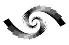 9 abstrakcjonistyczna projekta ruchu spirala Zdjęcie Stock