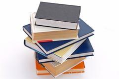 9 böcker ingen stapel Arkivbilder