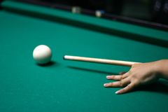 9-Ball rack of billiard balls Stock Photos