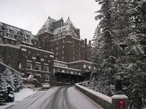 9 banff旅馆 免版税库存照片