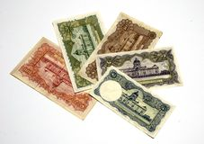 9 banknotów wzorcowy stary rama tajlandzki Obraz Stock