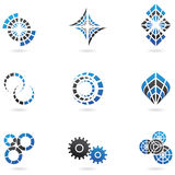 9 Blue Logos. Blue Logos to go with your company name (set of 9 vector illustration