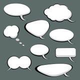 9 bolhas do discurso e do pensamento ilustração stock