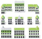 9 budynków miasta tworzenia diy zestawu mapy część ilustracji