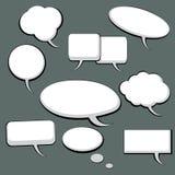 9 bulles de la parole et de pensée Illustration Libre de Droits