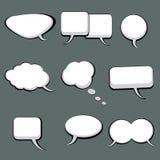 9 burbujas del discurso y del pensamiento Foto de archivo libre de regalías
