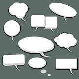 9 burbujas del discurso y del pensamiento Fotos de archivo libres de regalías
