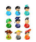 9 characters pack Stock Photo