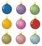 9 chucherías de Navidad Fotografía de archivo libre de regalías