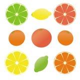 9 citrons Photos stock