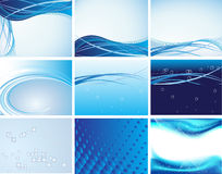 9 Clean futuristic layout design Royalty Free Stock Photo