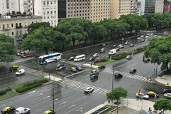9 de Julio Avenue. Buenos Aires. l'Argentine Photo libre de droits