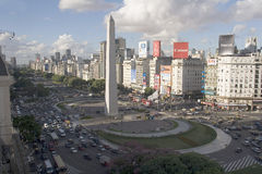 9 de julio avenue and obelisk, buenos aires Stock Photography
