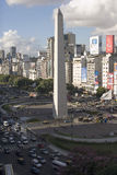 9 de julio avenue and obelisk, buenos aires Royalty Free Stock Images