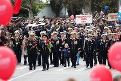9 de mayo, día de la victoria. Fotografía de archivo