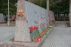 9 de mayo en Tomsk Imagenes de archivo