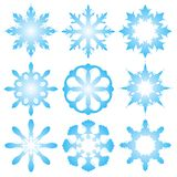 9 decorative snowflakes Stock Image