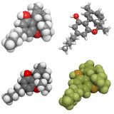 9 delt molekuły tetrahydrocannabinol Obrazy Royalty Free