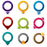 9 different icon designs. 9 different shape and color editable icon designs Stock Illustration